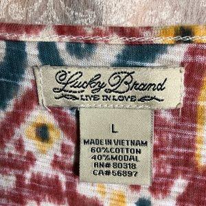 Lucky Brand Tops - Lucky Brand ikat print top